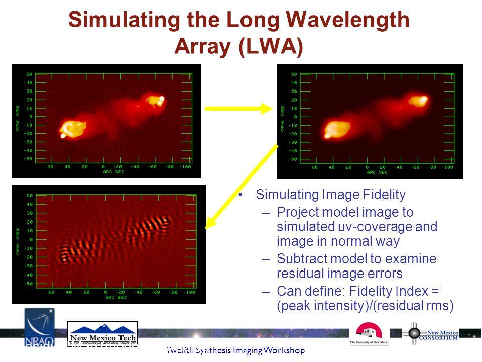 Simulating the Long Wavelength Array (LWA)