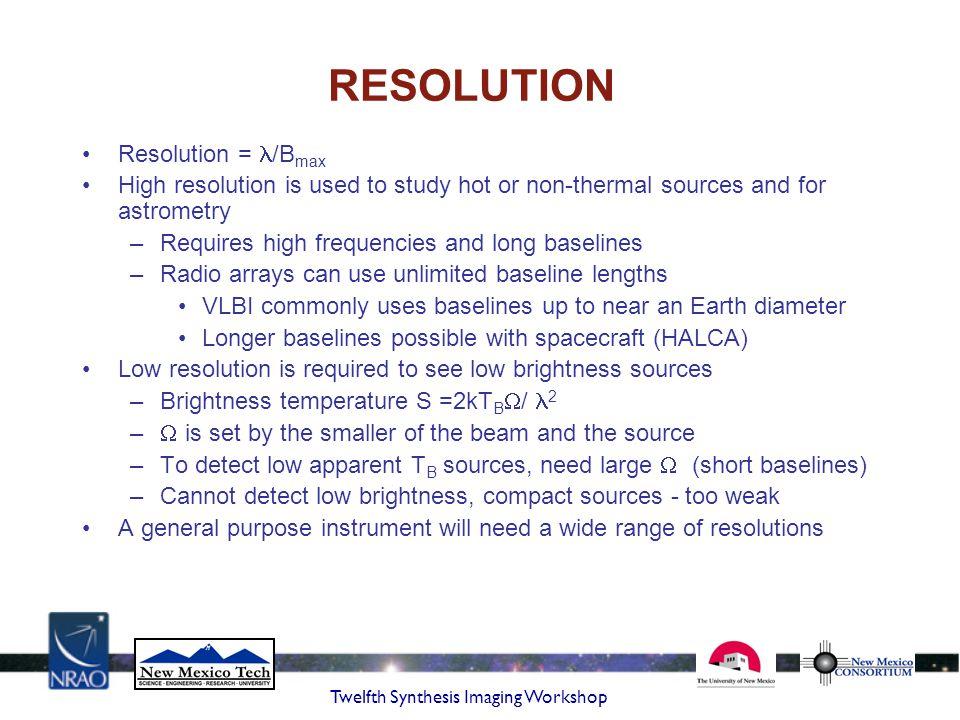 RESOLUTION Resolution = /Bmax