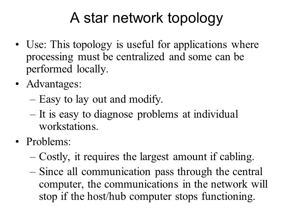 A star network topology