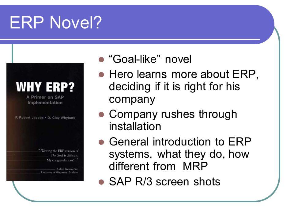 ERP Novel Goal-like novel