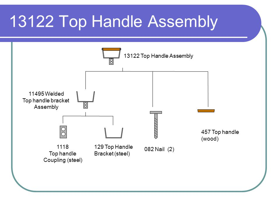 13122 Top Handle Assembly 13122 Top Handle Assembly 11495 Welded