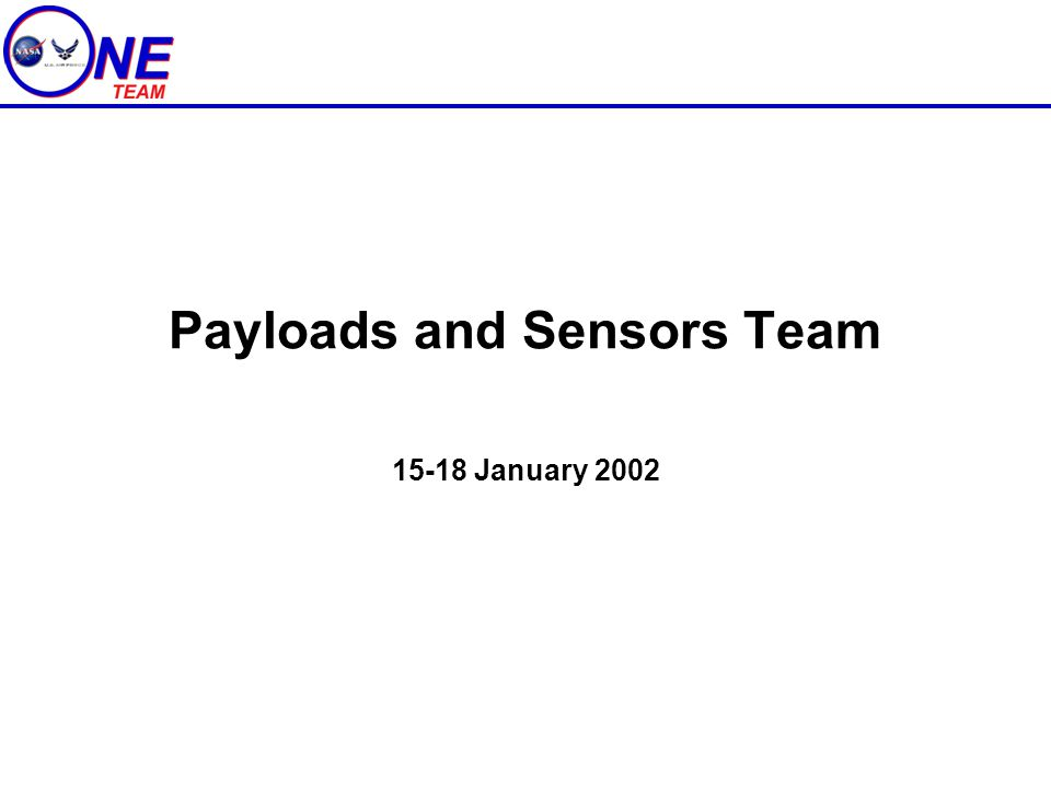 Payloads and Sensors Team