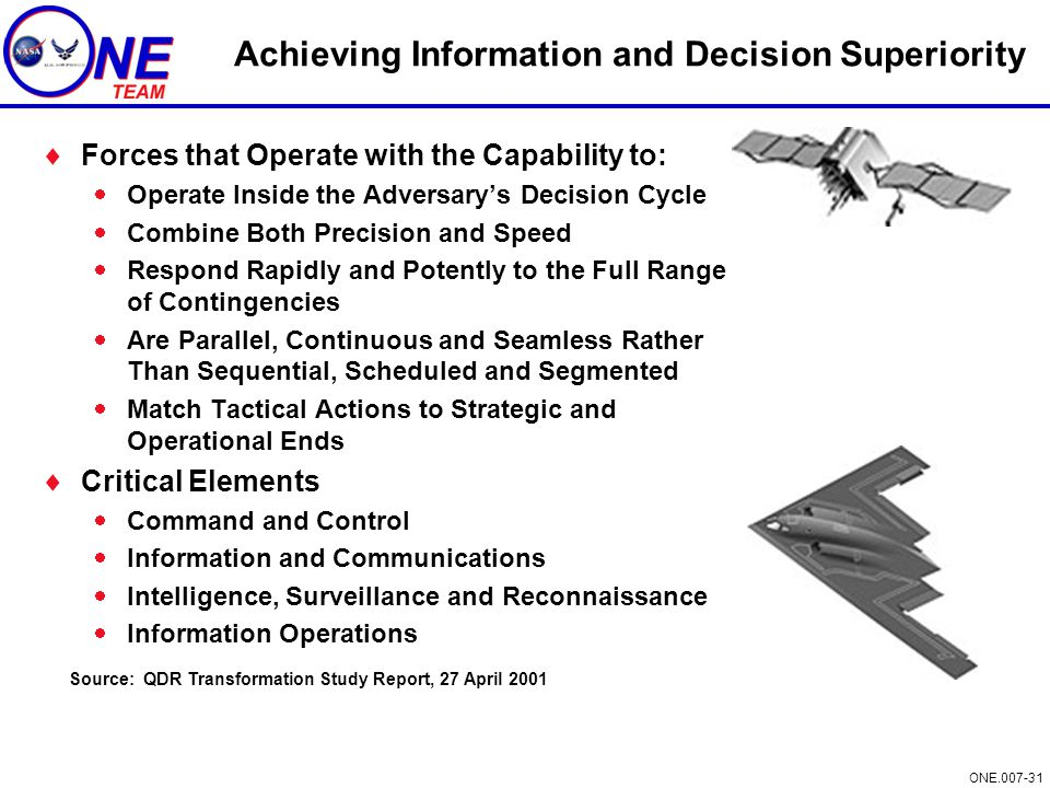 Achieving Information and Decision Superiority