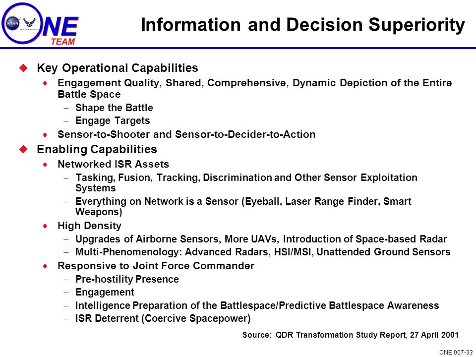 Information and Decision Superiority
