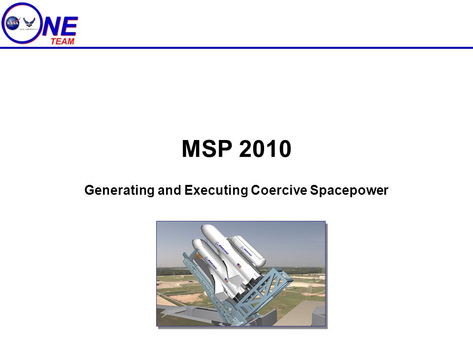 Generating and Executing Coercive Spacepower