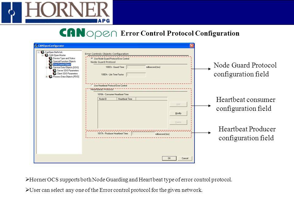 Error Control Protocol Configuration