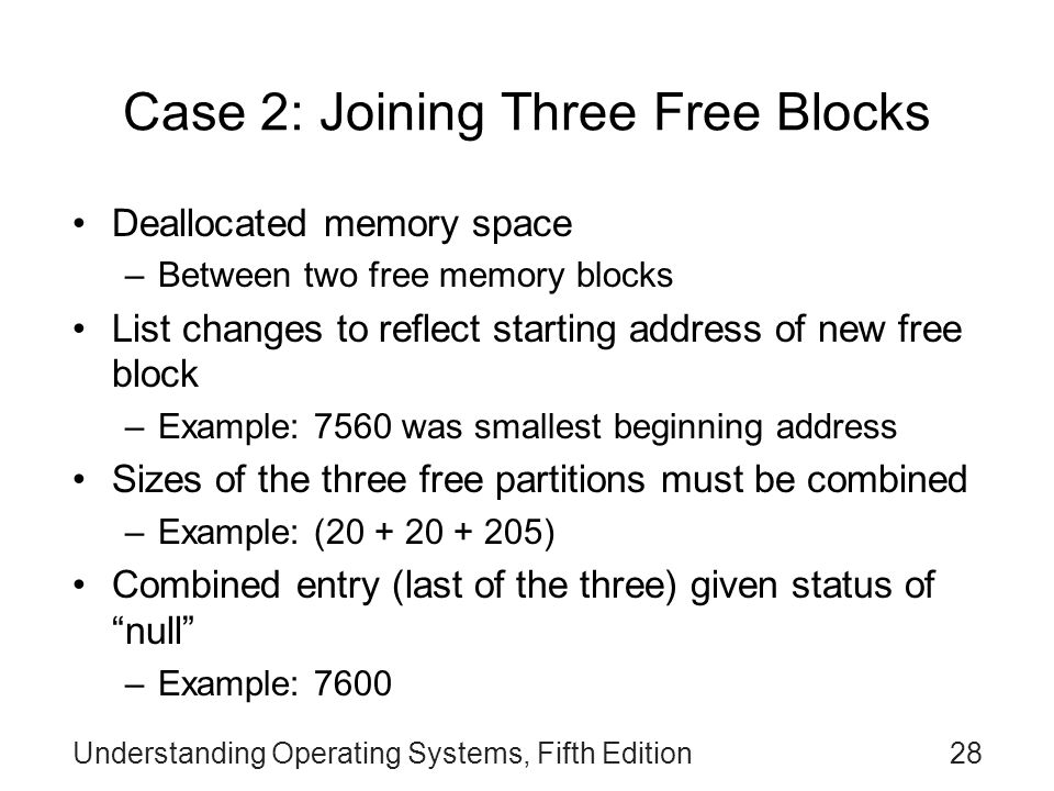 Case 2: Joining Three Free Blocks