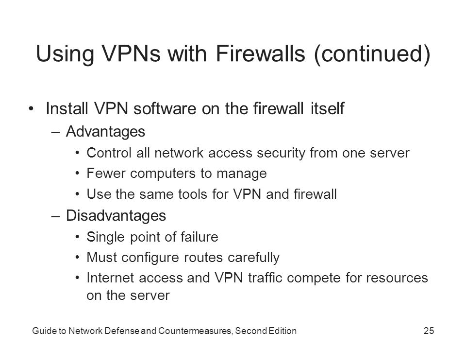 Using VPNs with Firewalls (continued)
