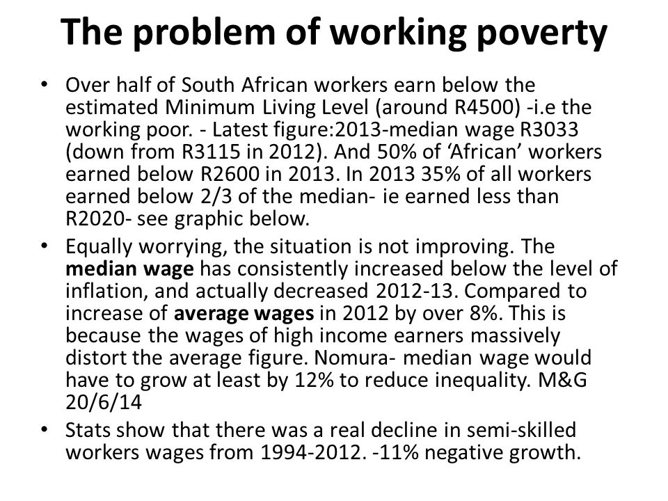 The problem of working poverty