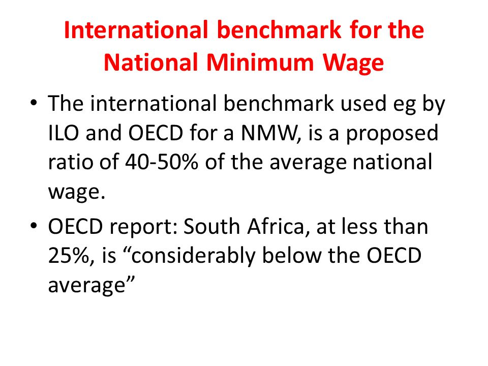 International benchmark for the National Minimum Wage