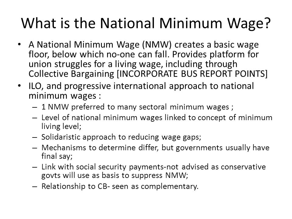 What is the National Minimum Wage