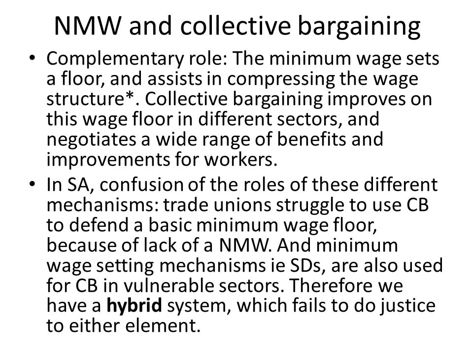 NMW and collective bargaining