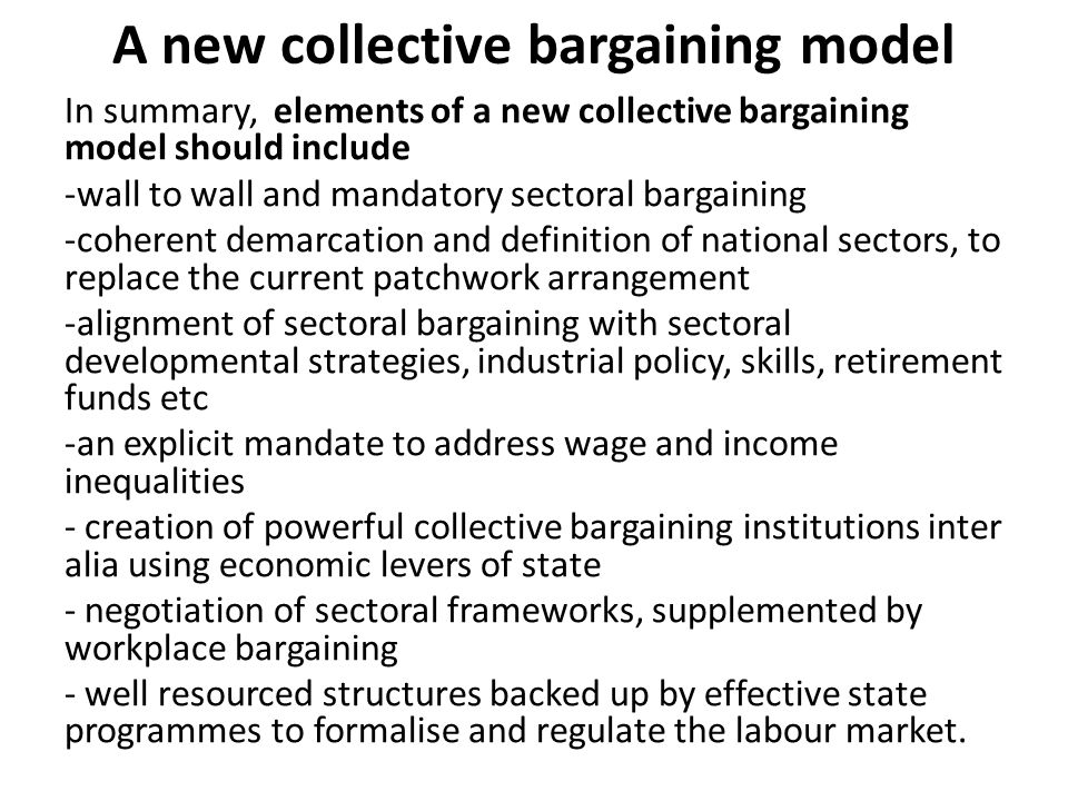 A new collective bargaining model