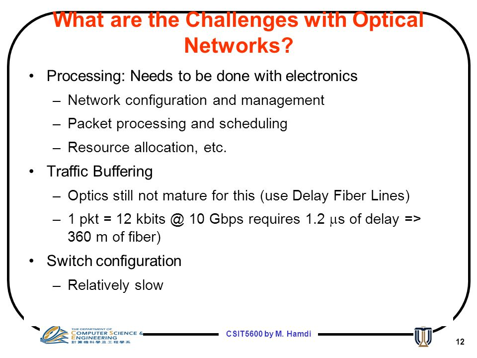 What are the Challenges with Optical Networks