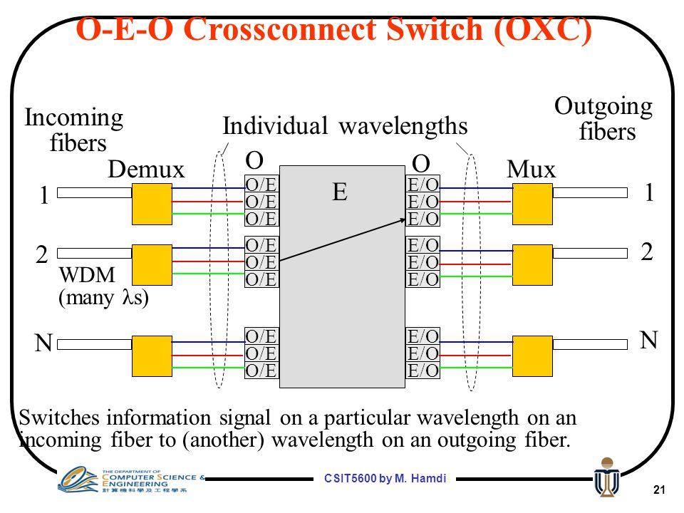 Individual wavelengths
