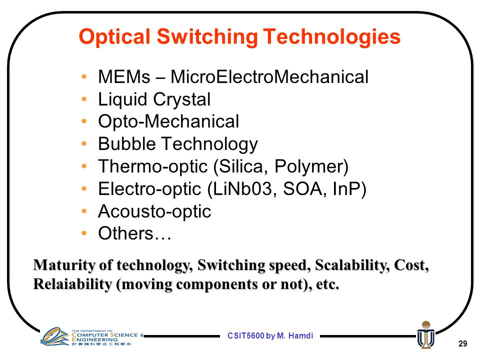 Optical Switching Technologies
