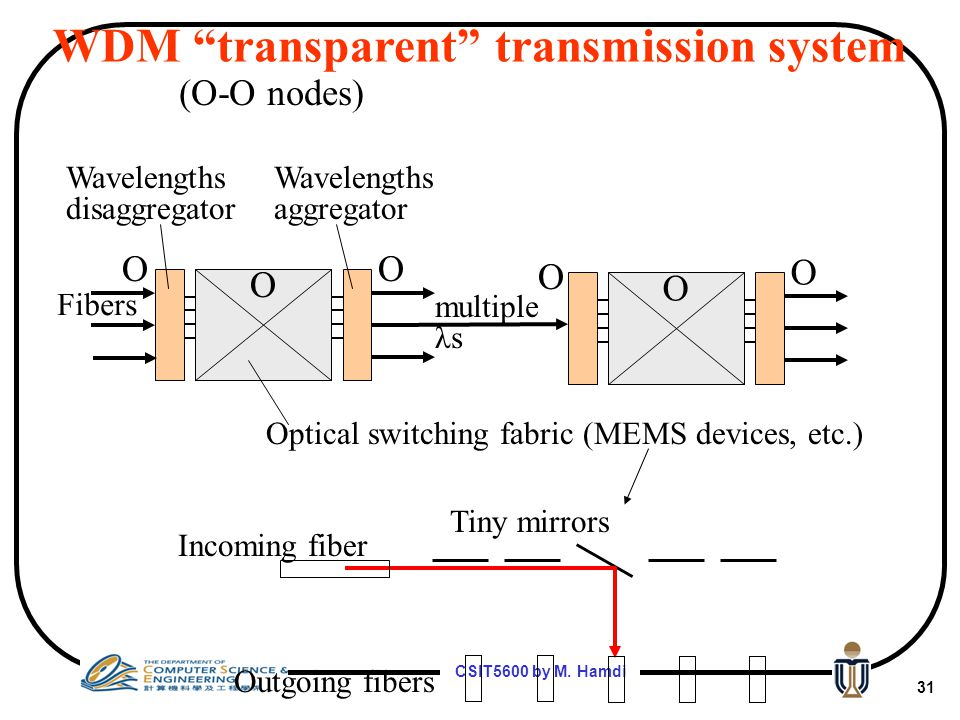 WDM transparent transmission system