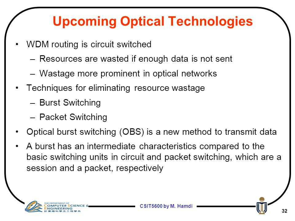 Upcoming Optical Technologies