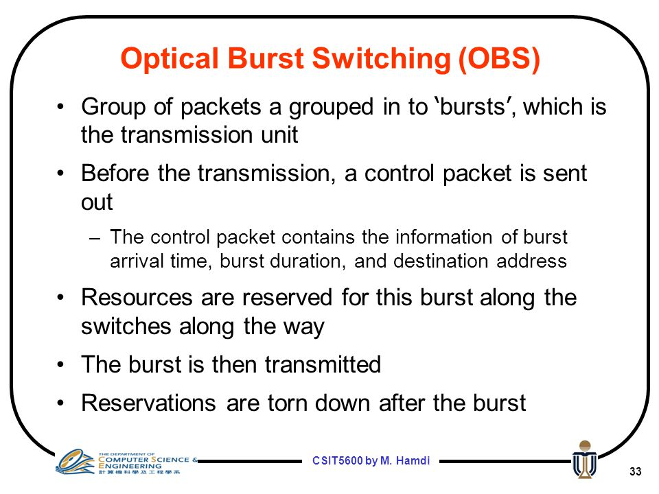 Optical Burst Switching (OBS)