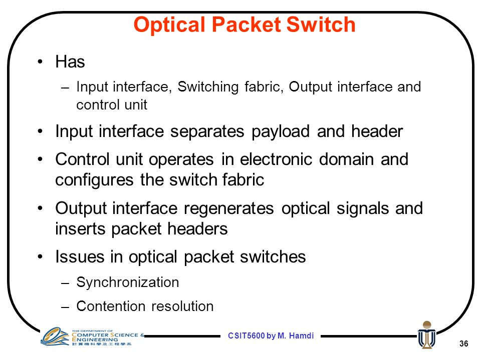 Optical Packet Switch Has Input interface separates payload and header