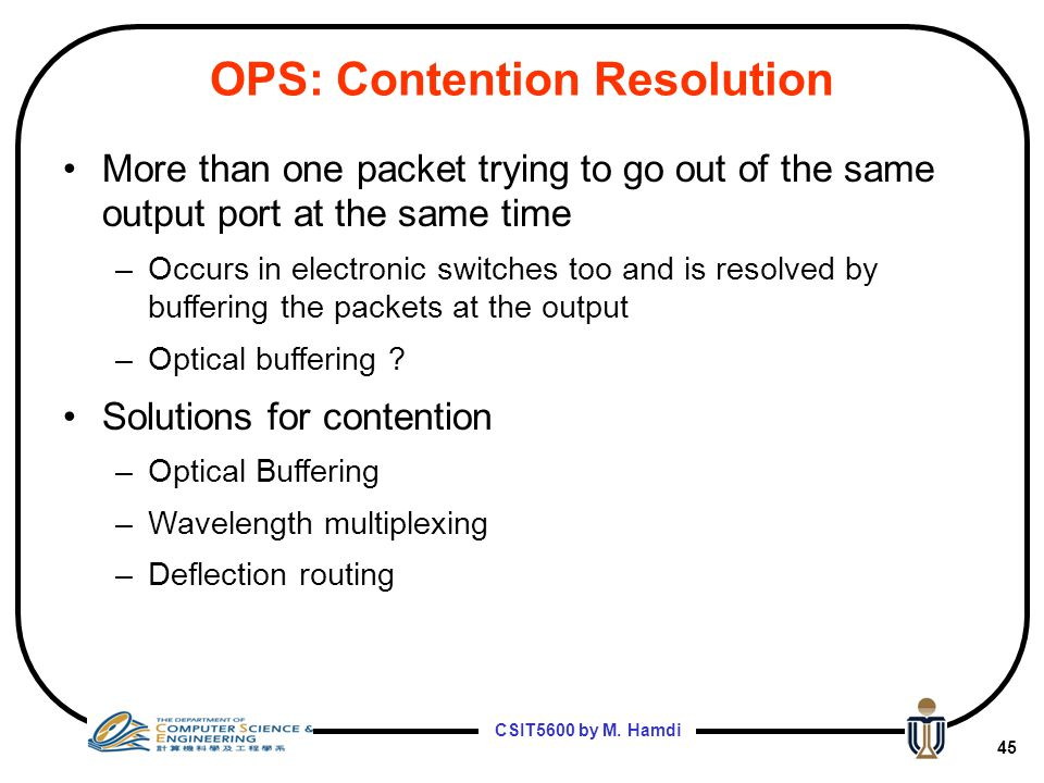 OPS: Contention Resolution