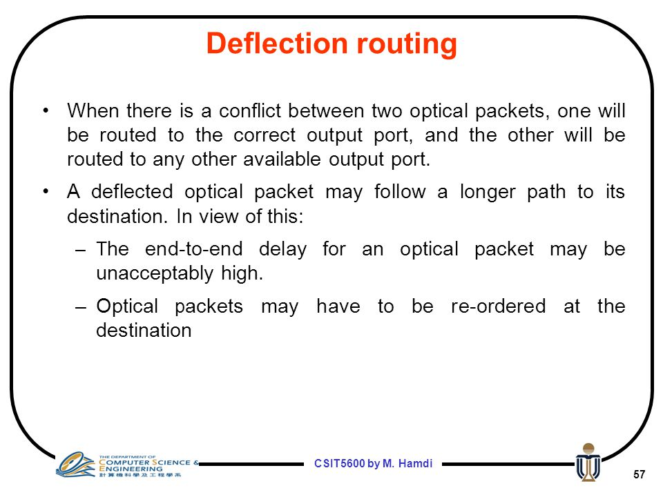 Deflection routing