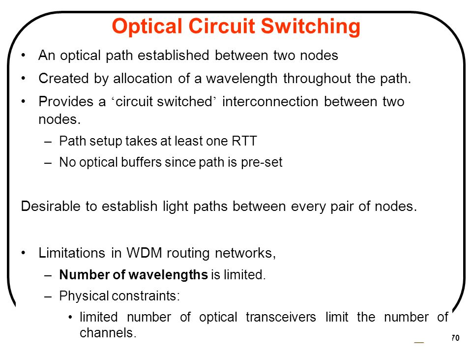 Optical Circuit Switching