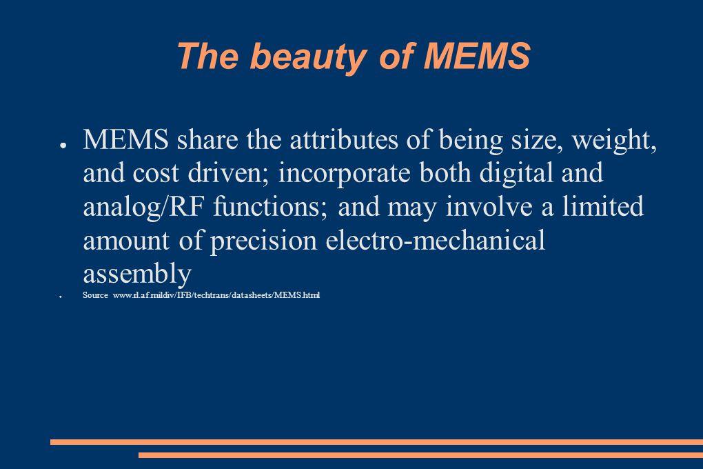The beauty of MEMS