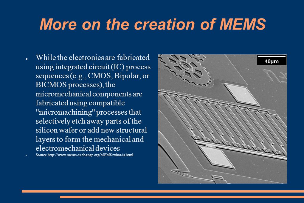 More on the creation of MEMS