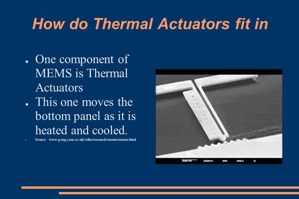 How do Thermal Actuators fit in