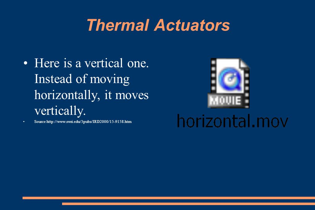 Thermal Actuators Here is a vertical one. Instead of moving horizontally, it moves vertically.