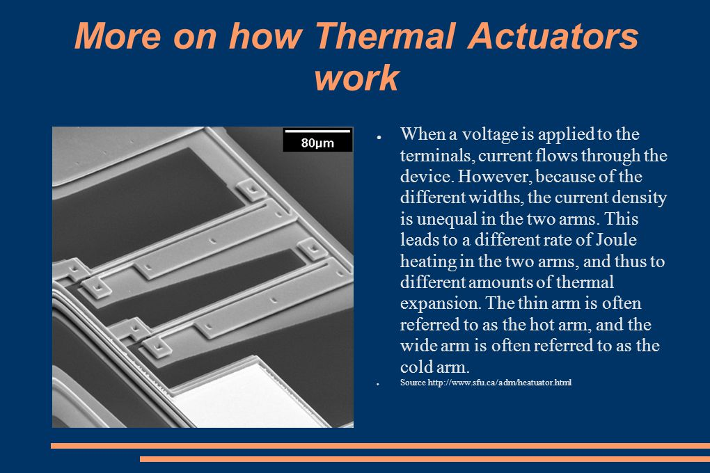 More on how Thermal Actuators work