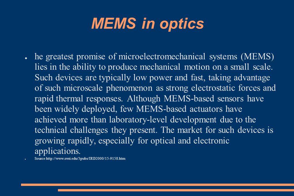 MEMS in optics