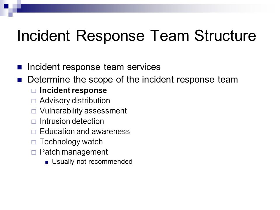 Incident Response Team Structure