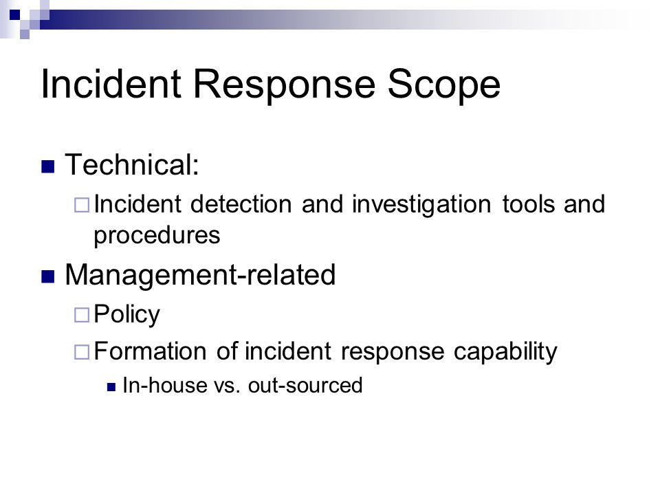 Incident Response Scope
