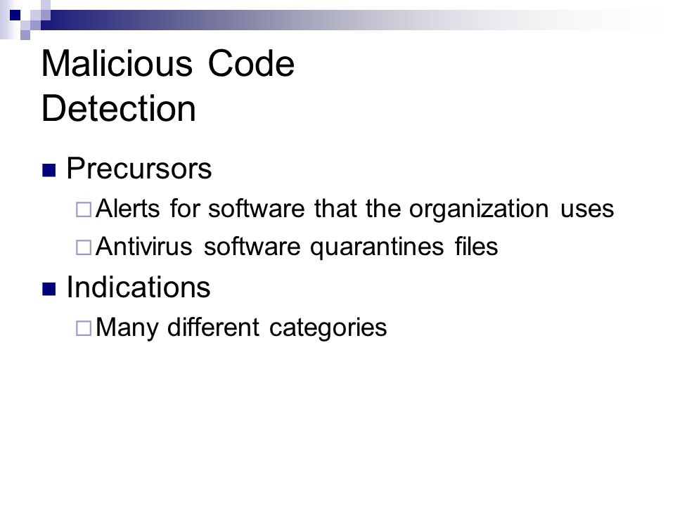 Malicious Code Detection