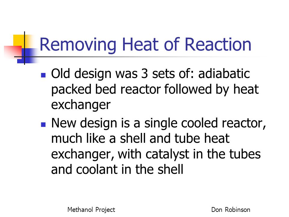 Removing Heat of Reaction