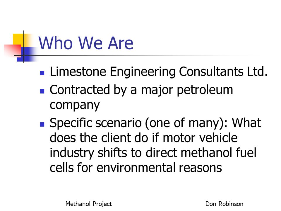 Methanol Project Don Robinson