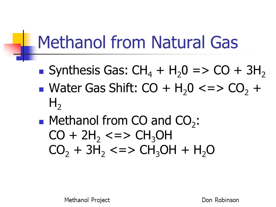 Methanol from Natural Gas