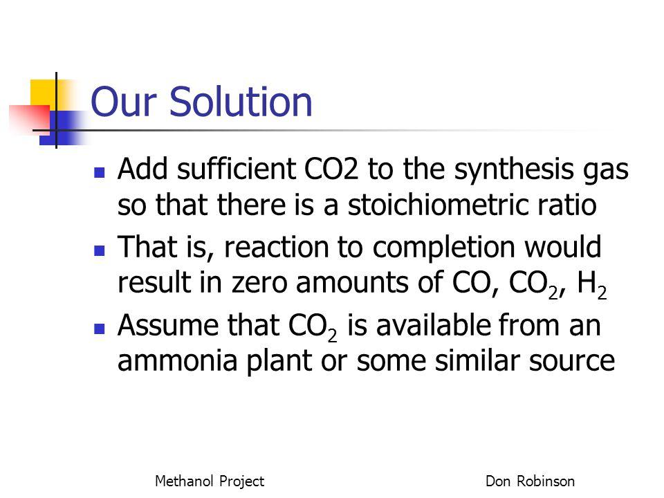 Methanol Project Don Robinson