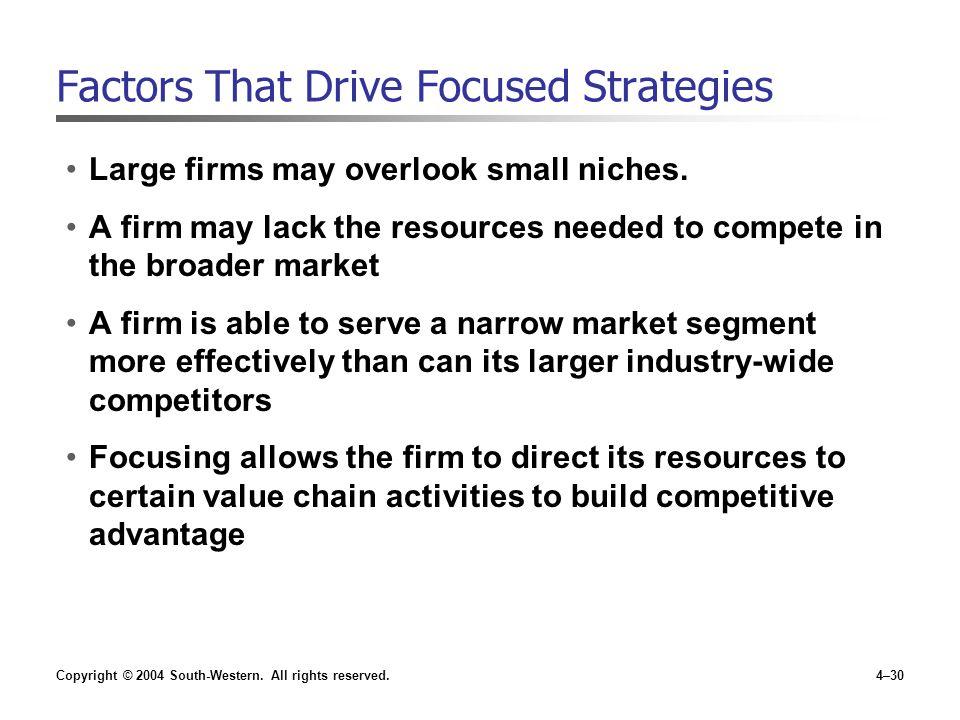 Factors That Drive Focused Strategies