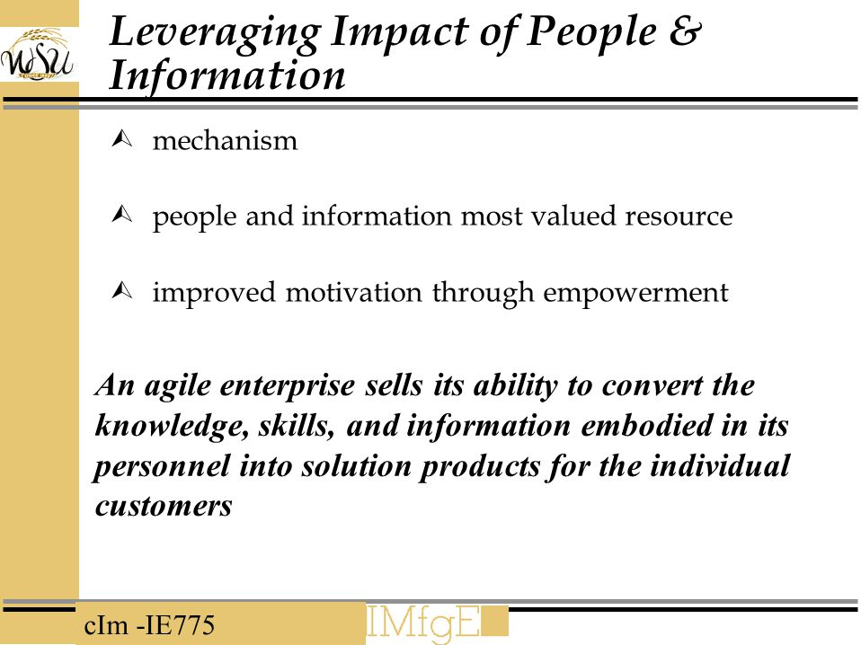Leveraging Impact of People & Information
