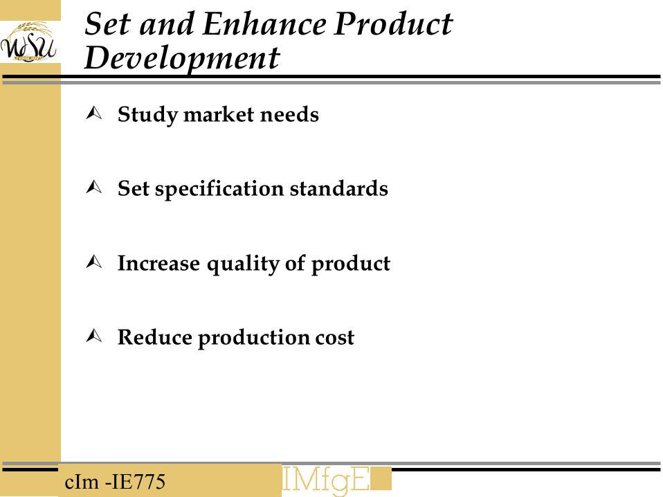 Set and Enhance Product Development