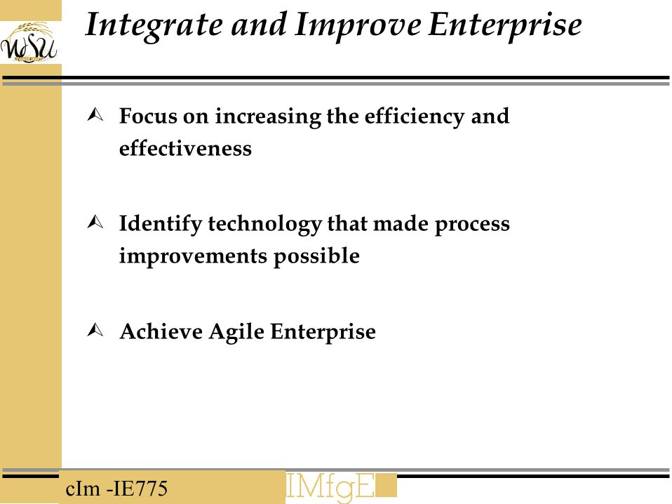 Integrate and Improve Enterprise