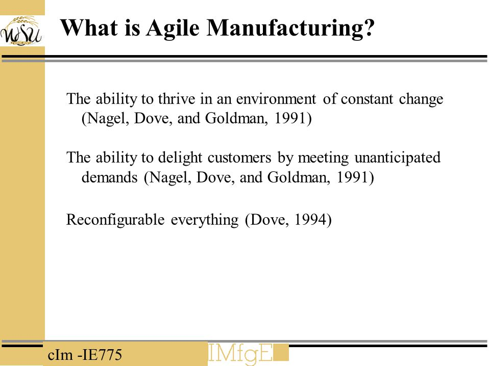 What is Agile Manufacturing