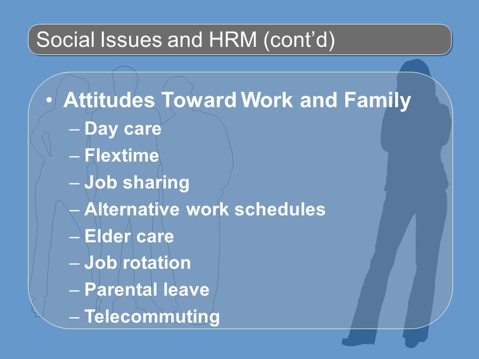 Social Issues and HRM (cont'd)