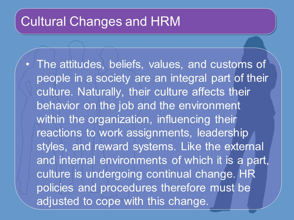 Cultural Changes and HRM
