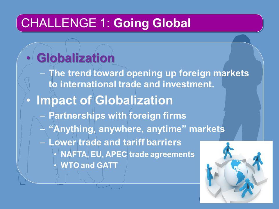 CHALLENGE 1: Going Global