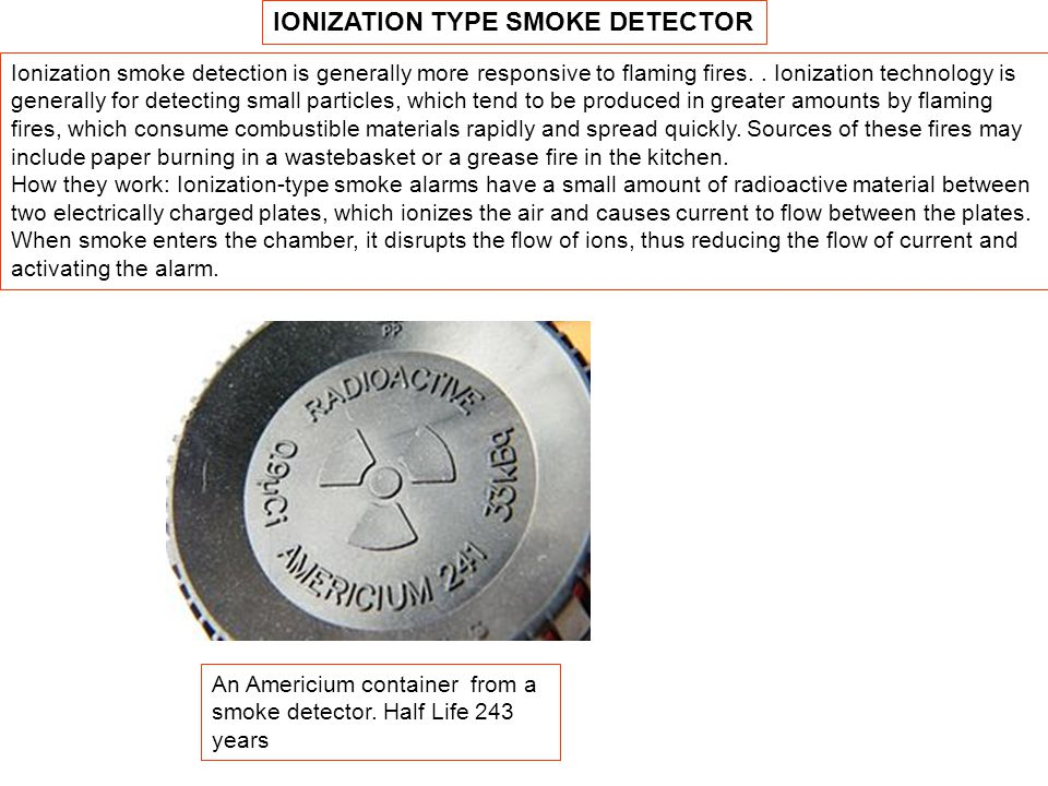 IONIZATION TYPE SMOKE DETECTOR