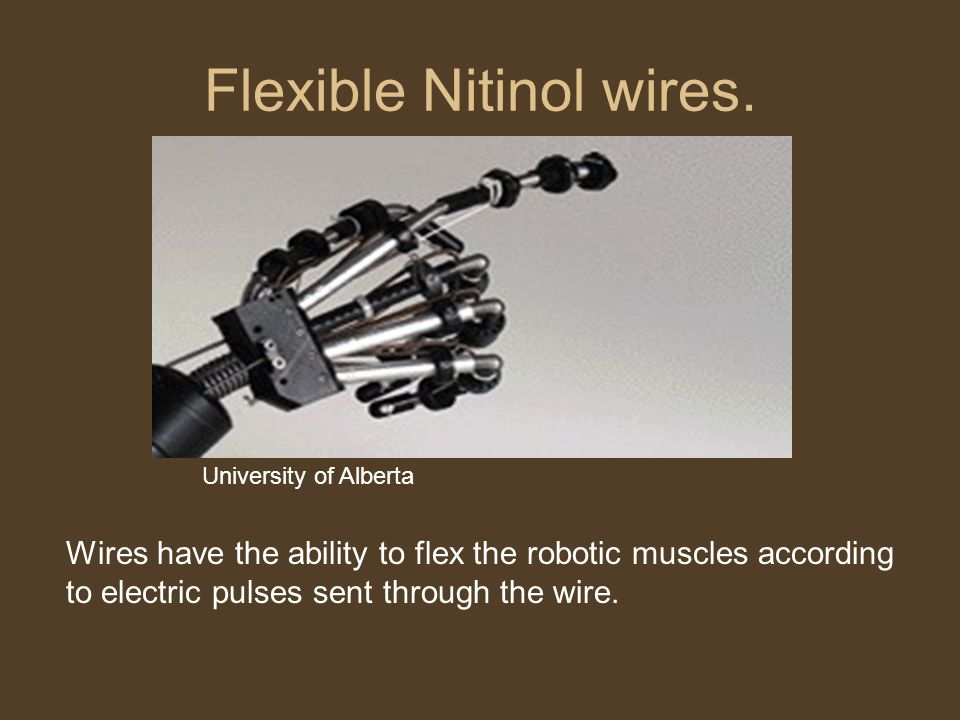 Flexible Nitinol wires.